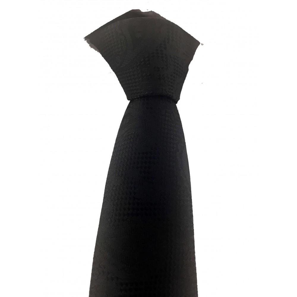 Brianze Siyah Şal Desen Slim Kravat SKD-5