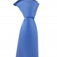 Brianze Mavi Slim Fit Dupont Saten Kravat DK-10