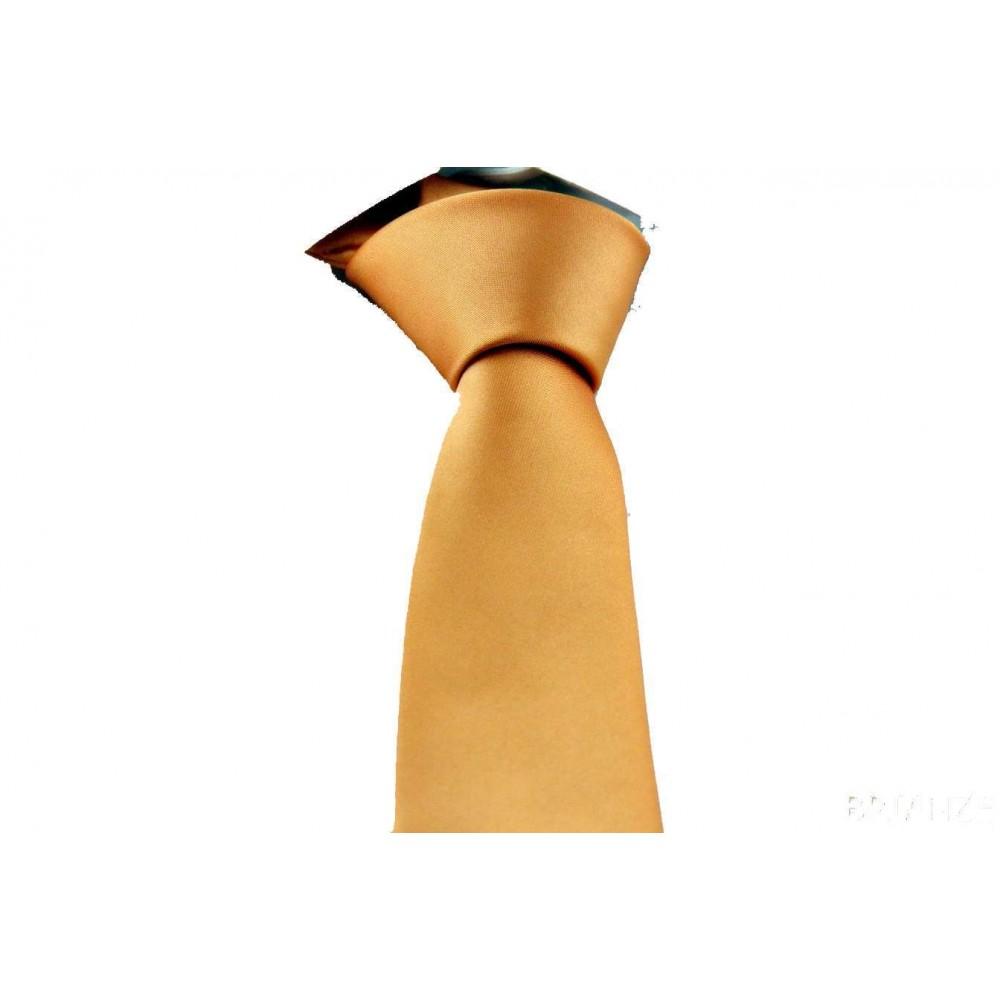 Brianze Turuncu Slim Fit Dupont Kravat DK-20