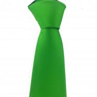 Brianze Yeşil Slim Fit Dupont Saten Kravat DK-23