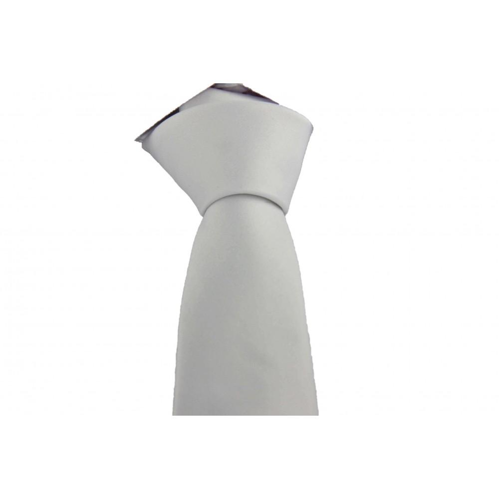 Brianze Beyaz Slim Fit Dupont Saten Kravat DK-25