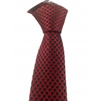 Brianze Kırmızı ve Siyah Puantiyeli Slim Kravat SKA-6
