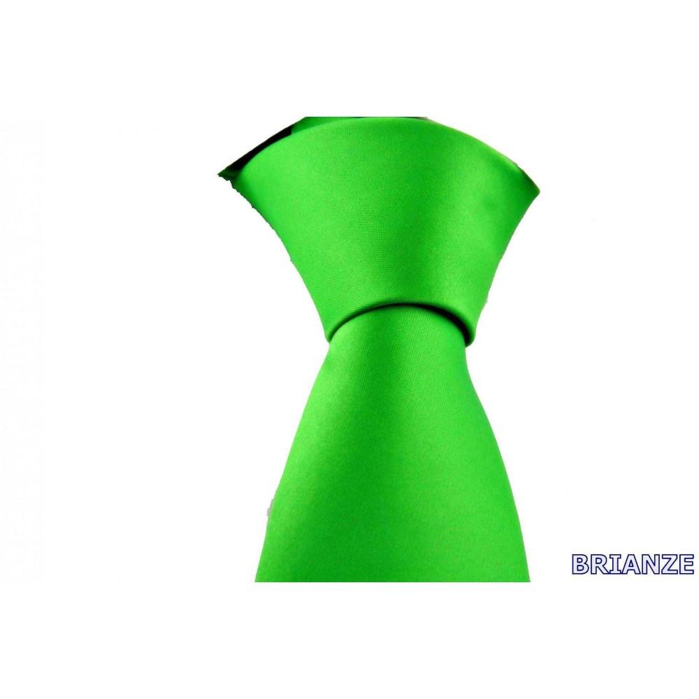 Brianze Açık Yeşil Dupont Saten Mendilli Kravat MDK-10