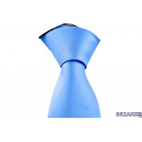 Brianze Açık Mavi Dupont Saten Mendilli Kravat