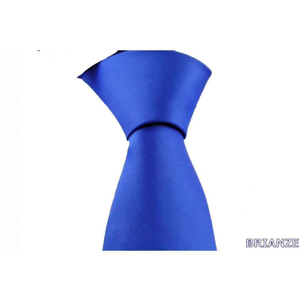 Brianze Saks Mavi Dupont Saten Mendilli Kravat MDK-3