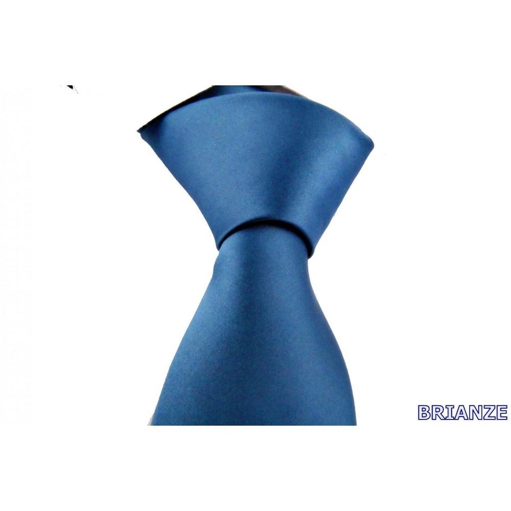 Brianze Petrol Mavi Dupont Saten Mendilli Kravat MDK-7
