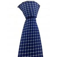 Brianze Açık Mavi Kareli Mendilli Saks Mavi Kravat