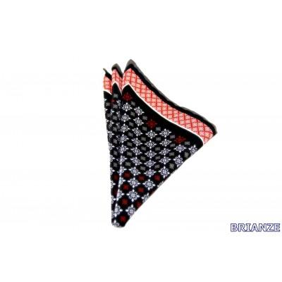 Brianze Turuncu Siyah Kravat Mendili M-28