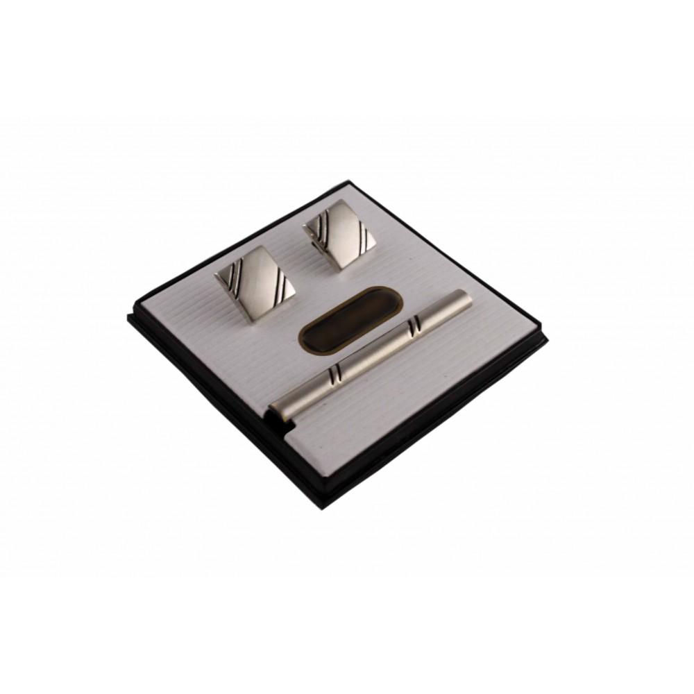 Brianze Kol Düğmesi ve Kravat İğnesi Set KD-27