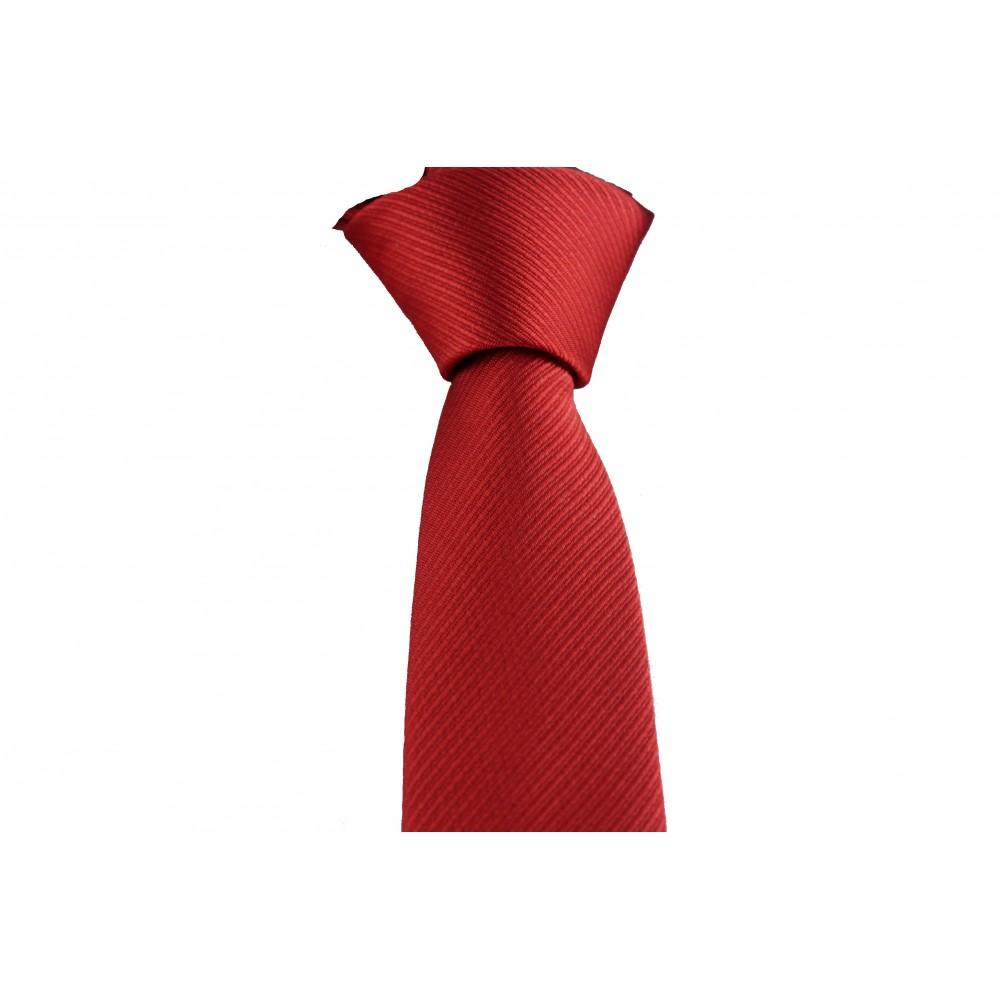 Brianze Kırmızı Kendiliğinden Desenli Kravat DK-26