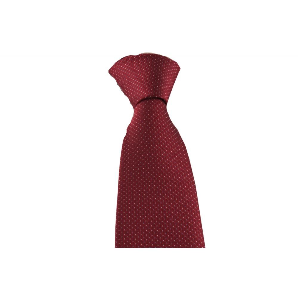 Brianze Noktalı Kırmızı Mendilli Kravat MKAM-4