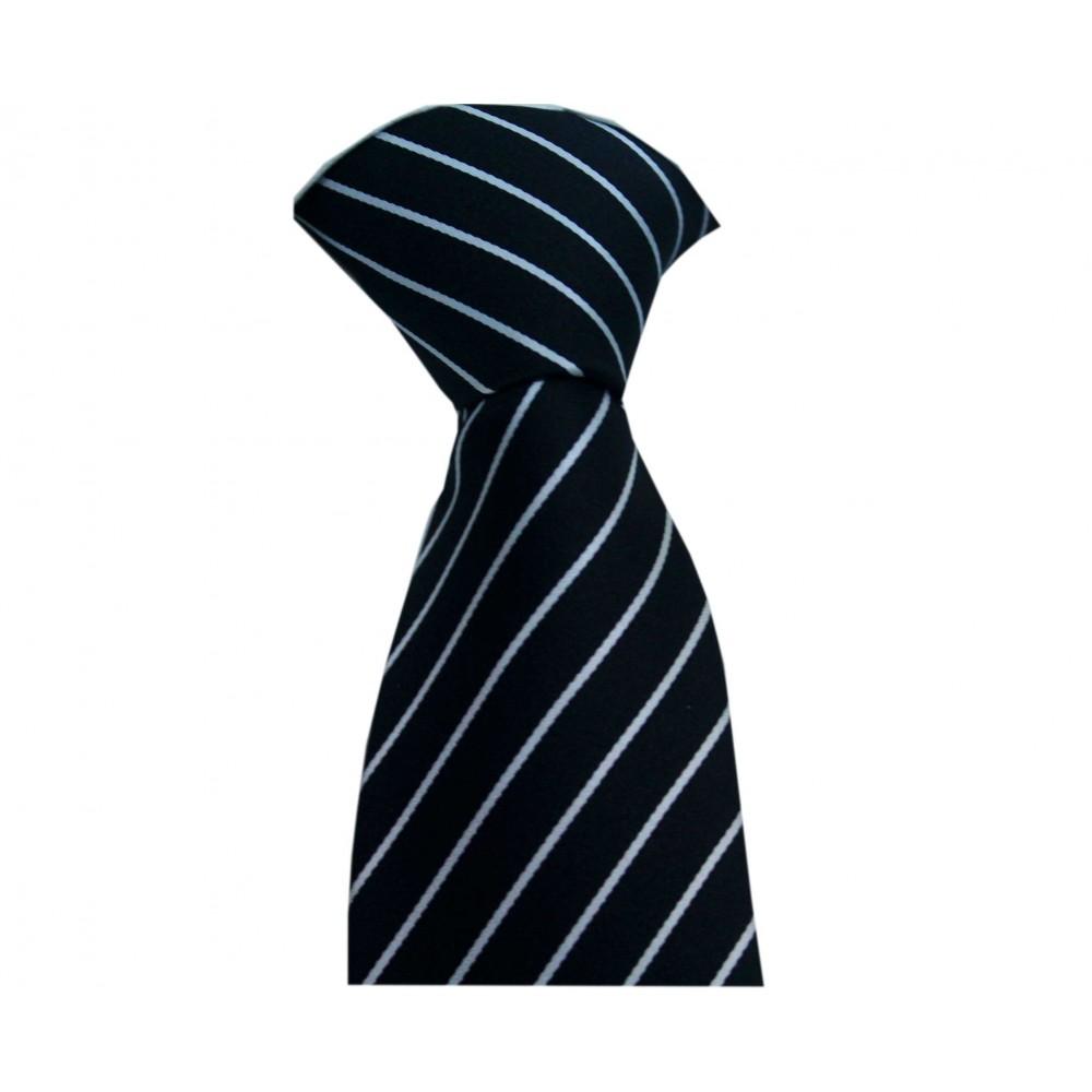 Brianze Siyah Beyaz Çizgili Kravat BJK-1