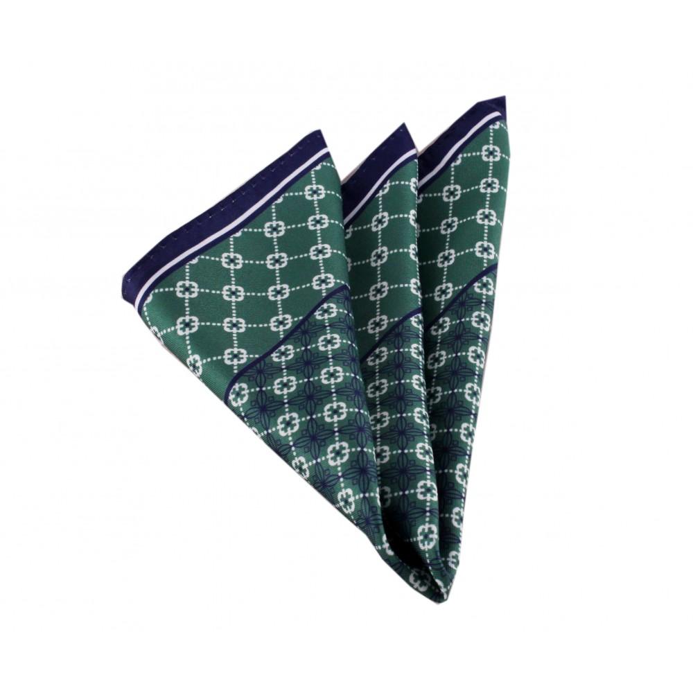 Brianze Yeşil Desenli Mendil M-45