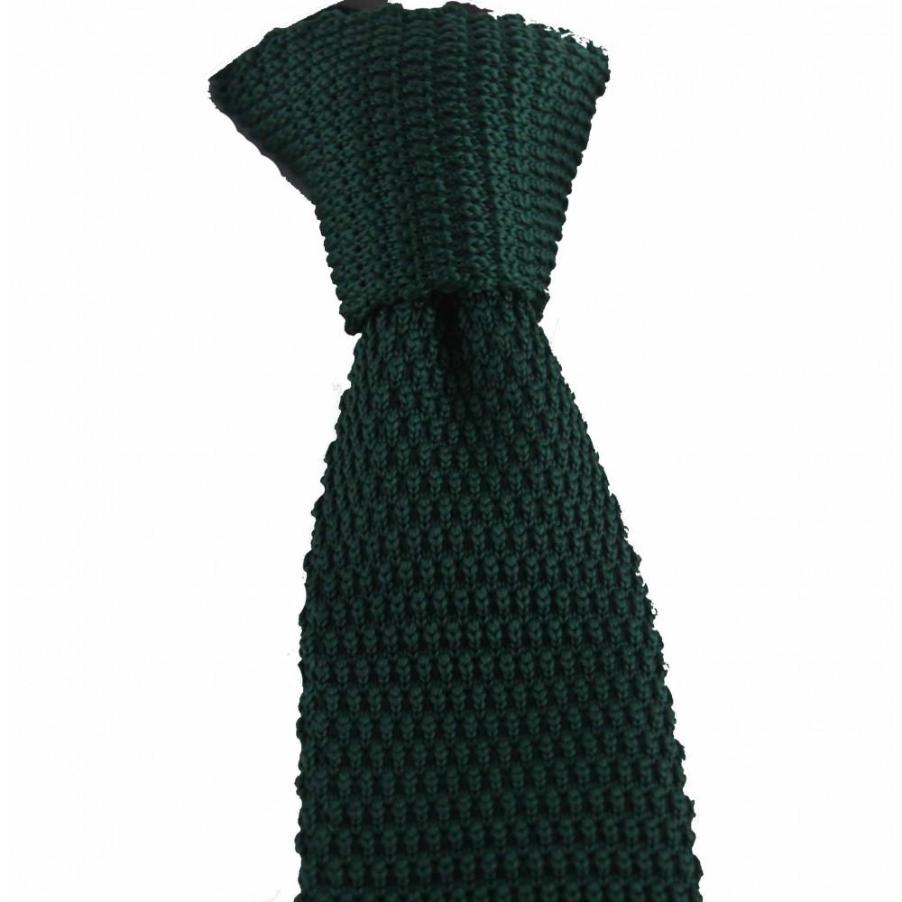 Brianze Zümrüt Yeşil Renk Örgü Kravat OK-27