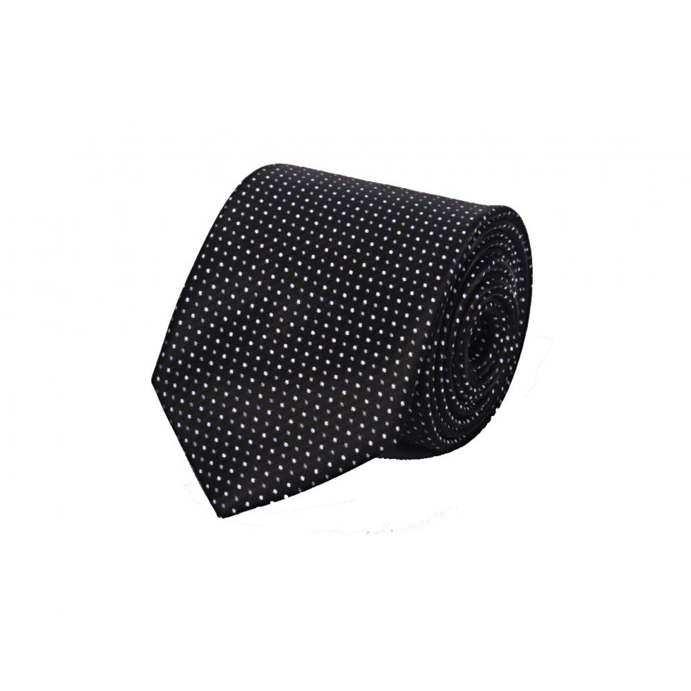 Brianze Beyaz Noktalı Siyah Kravat O-3