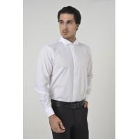 Beyaz Ata Yaka Slim Fit Gömlek