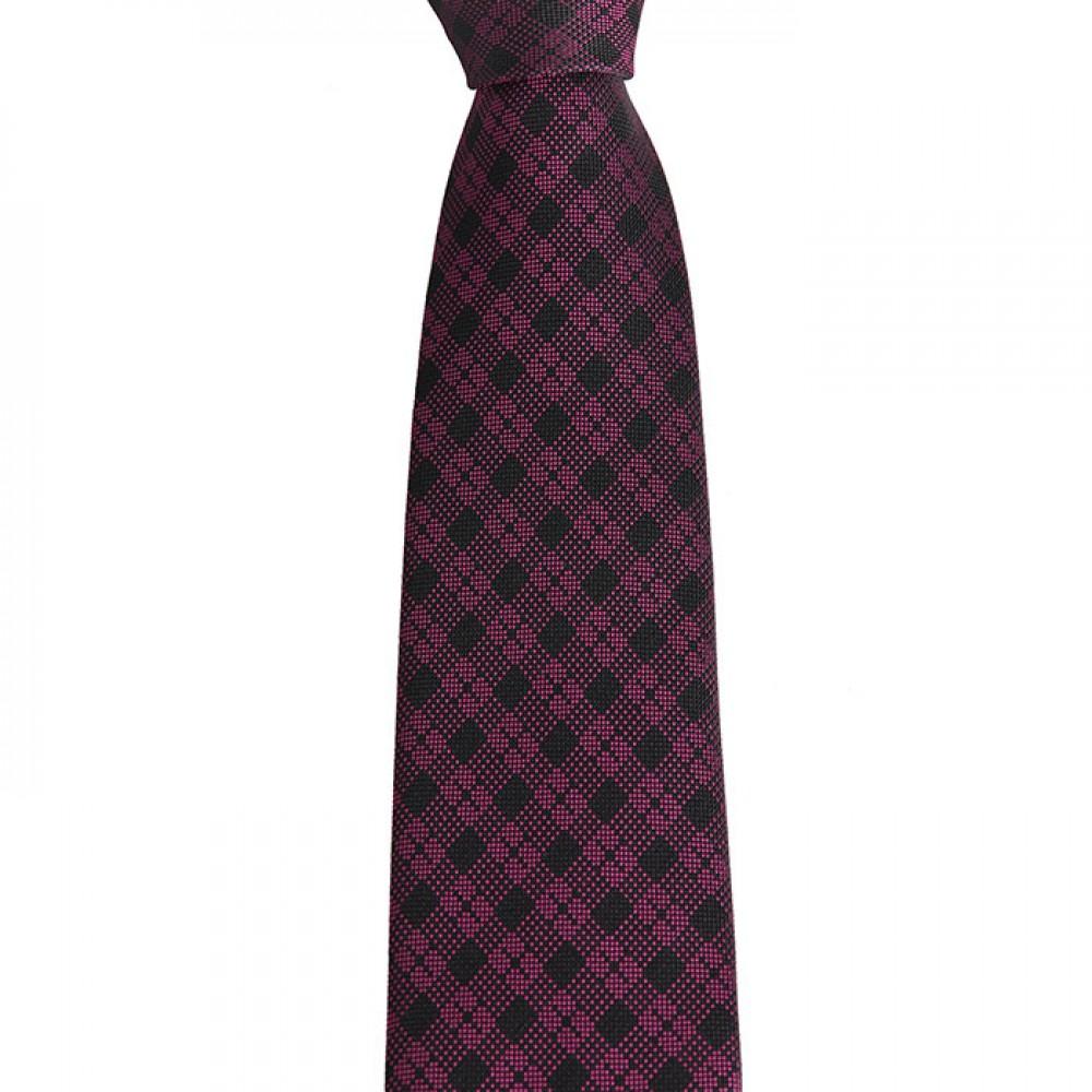Brianze Açık Mor Ekose Mendilli Kravat