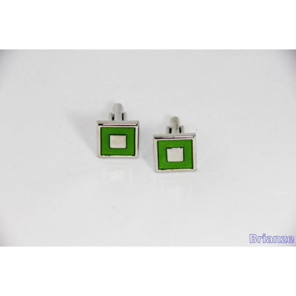 Brianze Açık Yeşil Kare Kol Düğmesi KD-10
