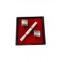 Brianze Altın Sarısı Renk Kol Düğmesi ve Kravat İğnesi Set KD-73