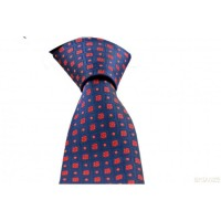 Brianze Çiçek Desen Mendilli Kırmızı Kravat