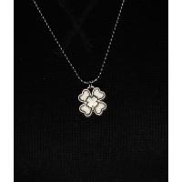 Brianze Çiçek Gümüş Kaplama Kolye KLY-12