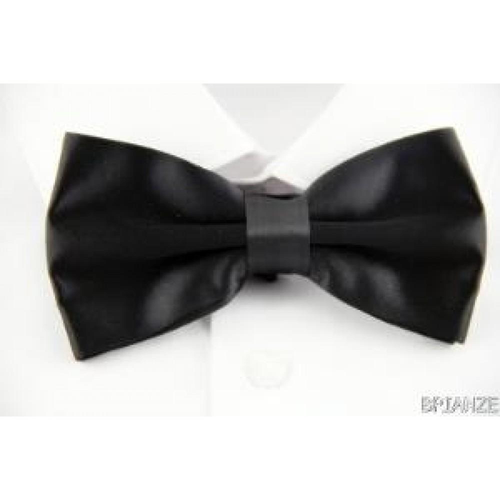 Brianze Düz Renk Siyah Papyon TP-6