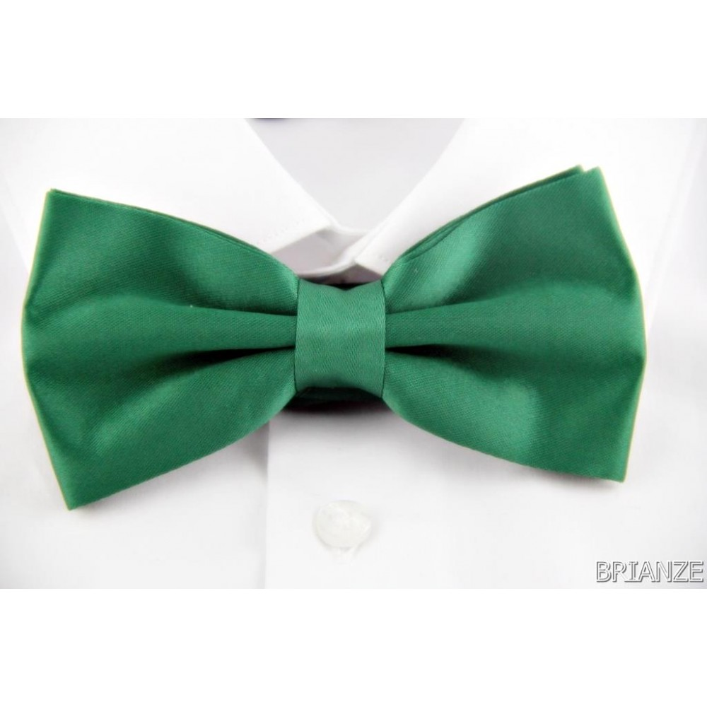 Brianze Düz Renk Yeşil Papyon TP-8