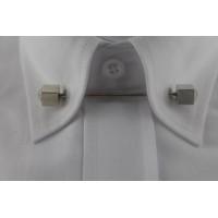 Brianze Gümüş Rengi Taşlı Gömlek Yaka İğnesi GY-11