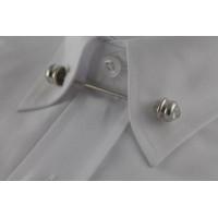 Brianze Gümüş Rengi Taşlı Gömlek Yaka İğnesi GY-9