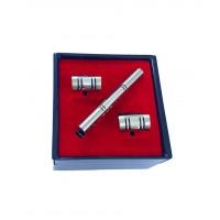 Brianze Gümüş Renk Kol Düğmesi ve Kravat İğnesi Set KD-85