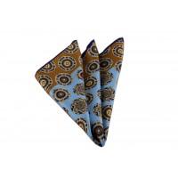 Brianze Hardal-Mavi Geometrik Desen Mendil M-55