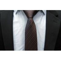 Brianze Kahverengi Desenli Kravat