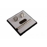 Brianze Kol Düğmesi ve Kravat İğnesi Set KD-26