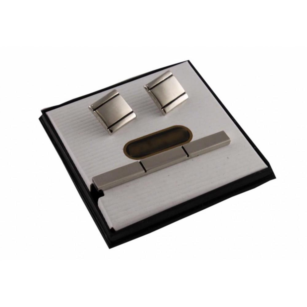 Brianze Kol Düğmesi ve Kravat İğnesi Set KD-28