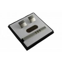 Brianze Kol Düğmesi ve Kravat İğnesi Set KD-29