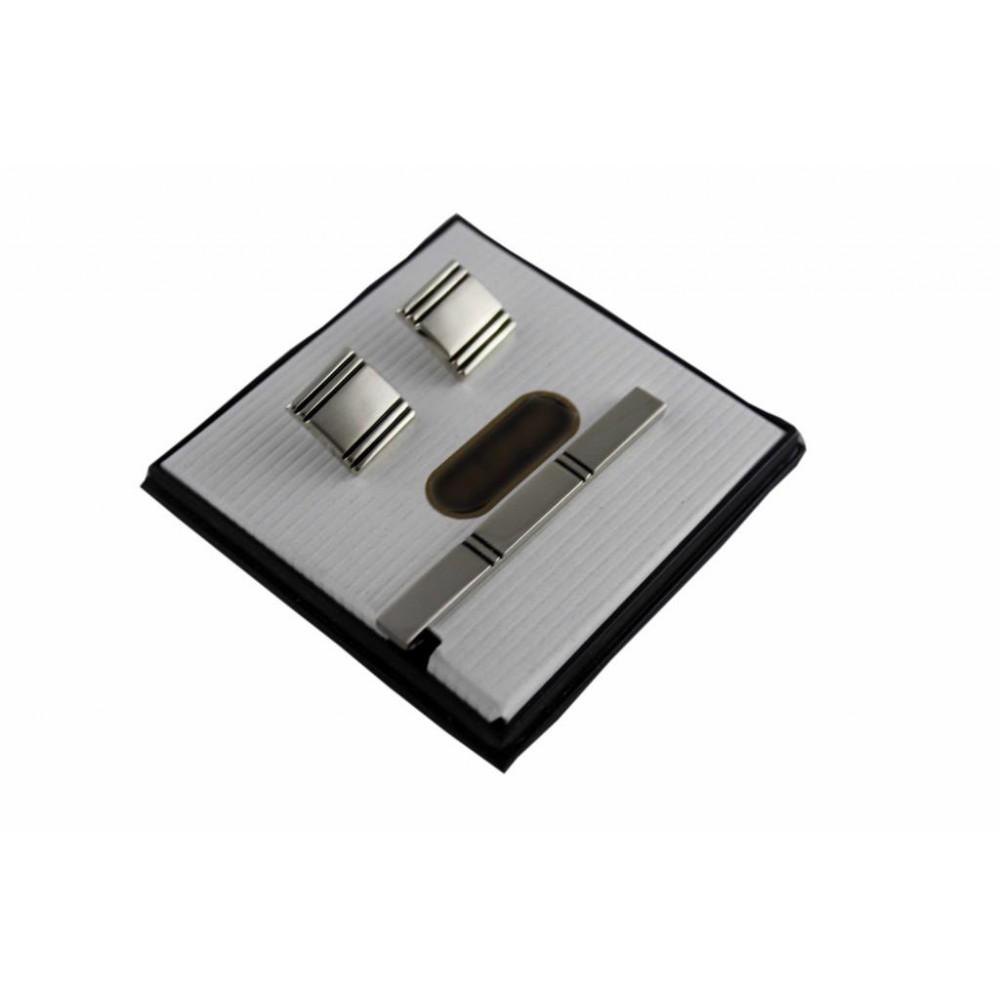 Brianze Kol Düğmesi ve Kravat İğnesi Set KD-30