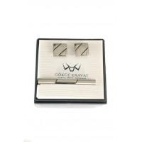 Brianze Kol Düğmesi ve Kravat İğnesi Set KD-35