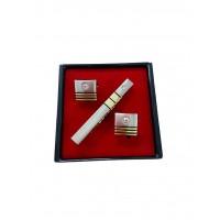 Brianze Kol Düğmesi ve Kravat İğnesi Set KD-60