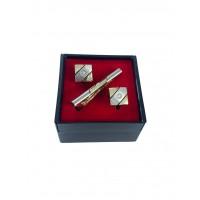 Brianze Kol Düğmesi ve Kravat İğnesi Set KD-70