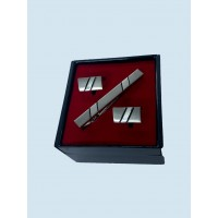 Brianze Kol Düğmesi ve Kravat İğnesi Set KD-71