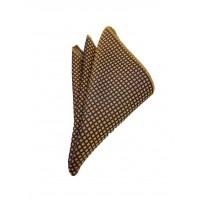 Brianze Küçük Desenli Kravat Mendil Kol Düğmesi Kutulu Hediyelik Set