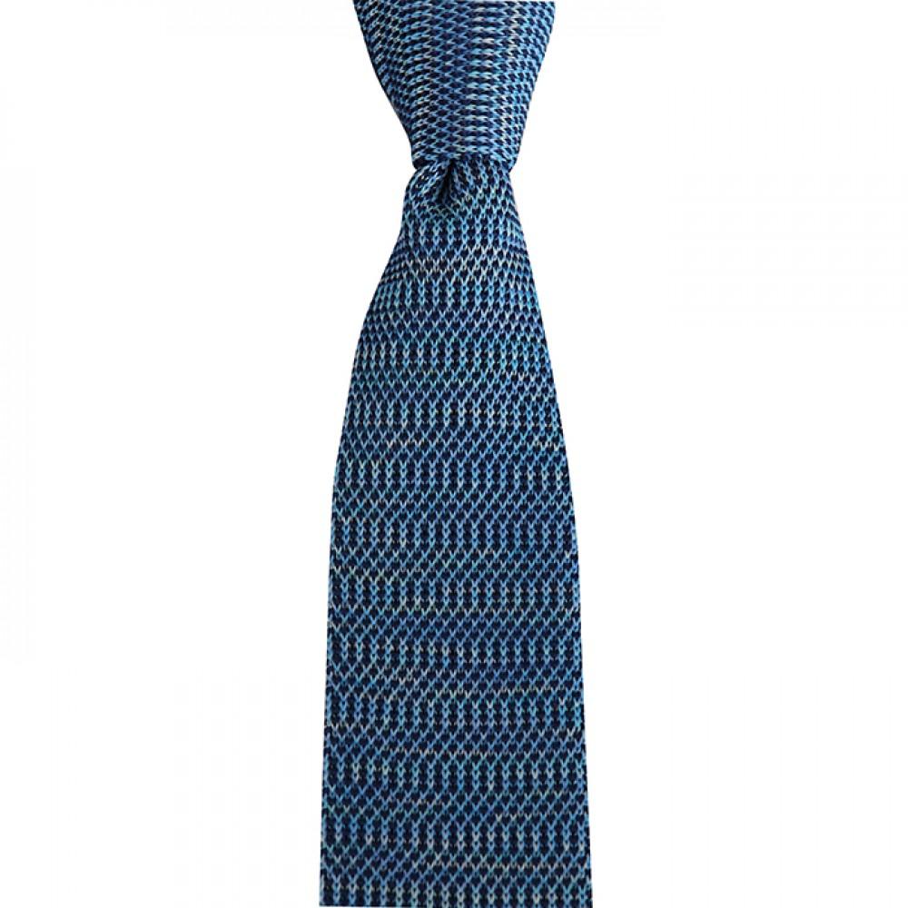 Brianze  Mavi Desenli Örgü Kravat OK-30