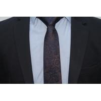 Brianze Şal Desen Kahverengi Kravat