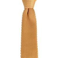 Brianze Sarı Renk Örgü Kravat OK-39