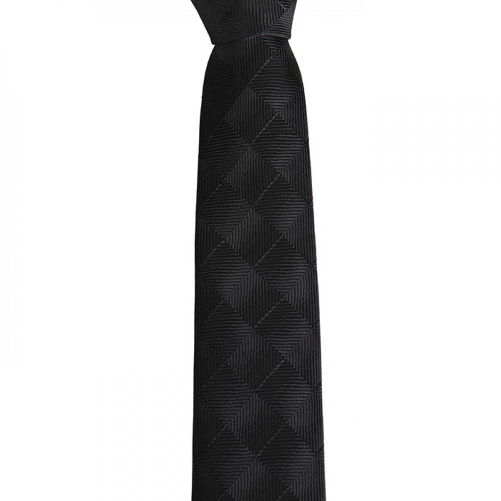Brianze Siyah Kareli Desen Slim Kravat SKP-9
