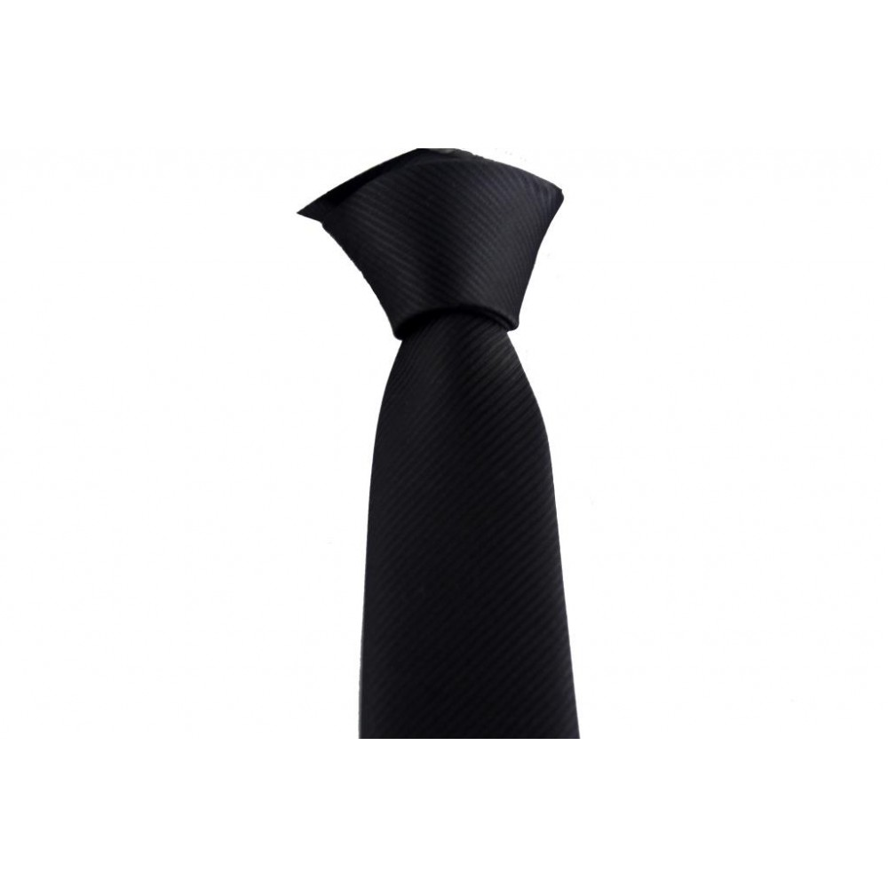 Brianze Siyah Kendiliğinden Desenli Kravat DK-29