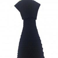 Brianze Siyah Renk Örgü Kravat OK-15