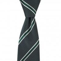 Brianze Yeşil Çizgili Mendilli Kravat