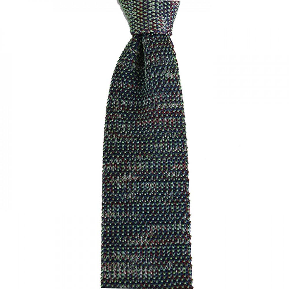 Brianze Yeşil Melanj Desen Örgü Kravat OK-32