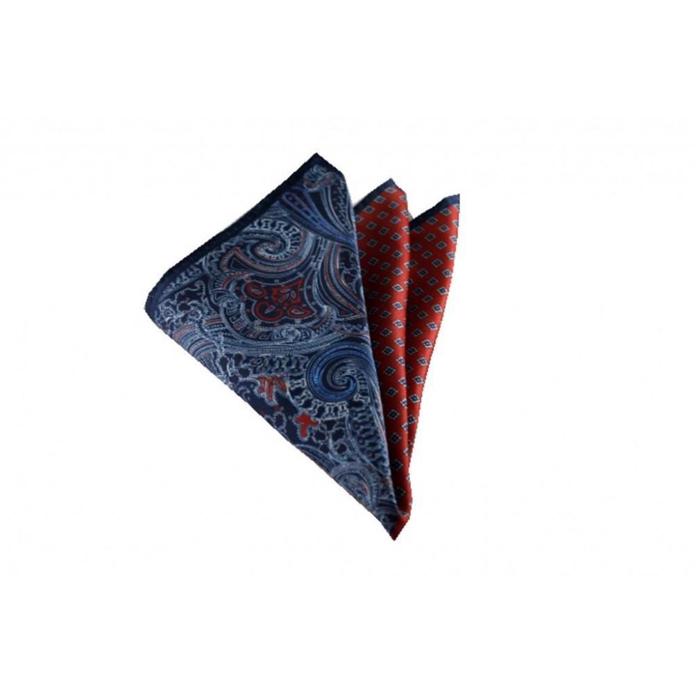 Kırmızı Kareli ve Şal Desen Mendil Brianze M-66